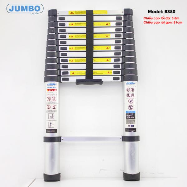 Thang nhôm rút gọn cao cấp JUMBO B380 (Cao 3.8m)