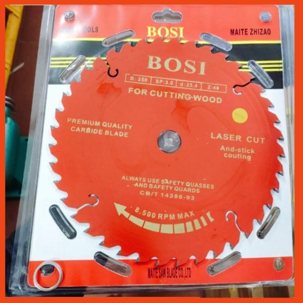 Lưỡi cưa cắt gỗ 255mm (40 răng-60 răng) chính hãng Bosi cao cấp