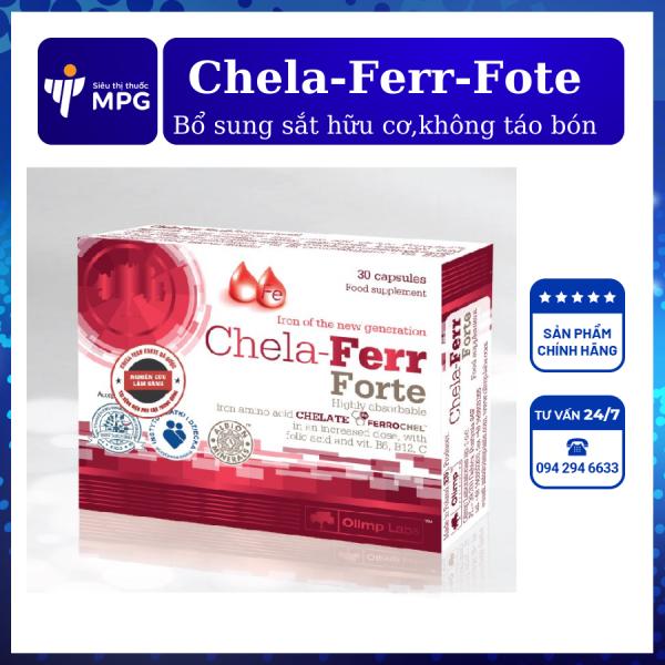 [CHÍNH HÃNG] Chela Ferr Forte – Bổ sung sắt hữu cơ, giúp bổ máu, không gây táo bón