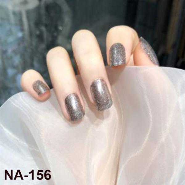 [Tặng keo+dũa] Bộ 24 móng tay giả dài đẹp đính đá gắn kim tuyến thiết kế cao cấp NA156