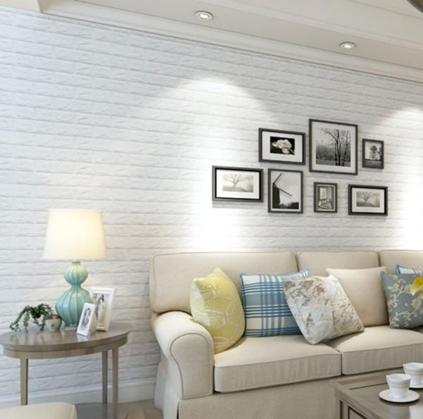 Xốp dán tường - xốp dán tường 3D giả gạch khổ 70*77cm, miếng dán tường giả gạch siêu tiện lợi, chống bẩn tường, chống ẩm mốc, chống nước dính chắc chắn(XDT04)