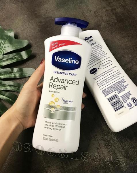 Sữa Dưỡng Thể VASELINE Advanced Repair Dưỡng Ẩm Khô Thoáng Da 600ml (Mẫu mới)