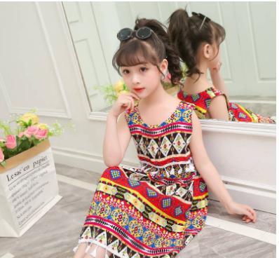 Giá bán Đầm váy trẻ em mang phong cách dân tộc