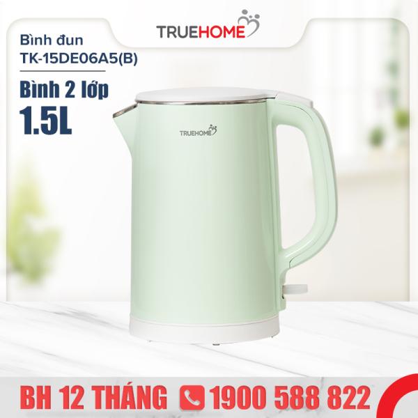 Bảng giá Bình đun nước siêu tốc TrueHOME TK-15DE06A5(B) 1.5L 1800W - Thép không gỉ - Hàng chính hãng bảo hành 1 năm Điện máy Pico