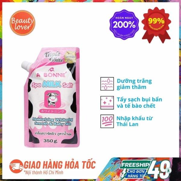 Muối Tắm Sữa Bò Thái Lan A Bonne Dưỡng Trắng 350g – Beauty Lover Tẩy Tế Bào Chết Body, Dưỡng Trắng Da cao cấp