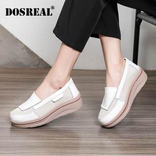 Giày Đế Xuồng DOSREAL Cho Nữ Giày Bánh Mì Giày Lười Đế Dày Phong Cách Hàn Quốc Thời Trang Thường Ngày