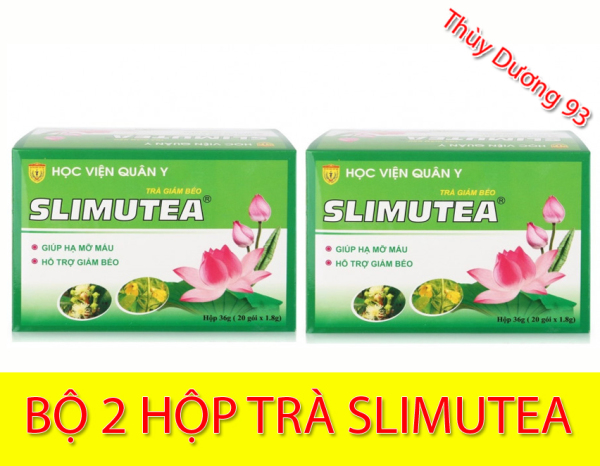 Bộ 2 hộp Trà giảm béo Slimutea Học Viện Quân Y (20 gói x 2) giúp giảm mỡ máu, giảm lượng mỡ thừa, giảm cholesterol, giảm khả năng hấp thụ chất béo và ngăn ngừa mỡ thừa hình thành