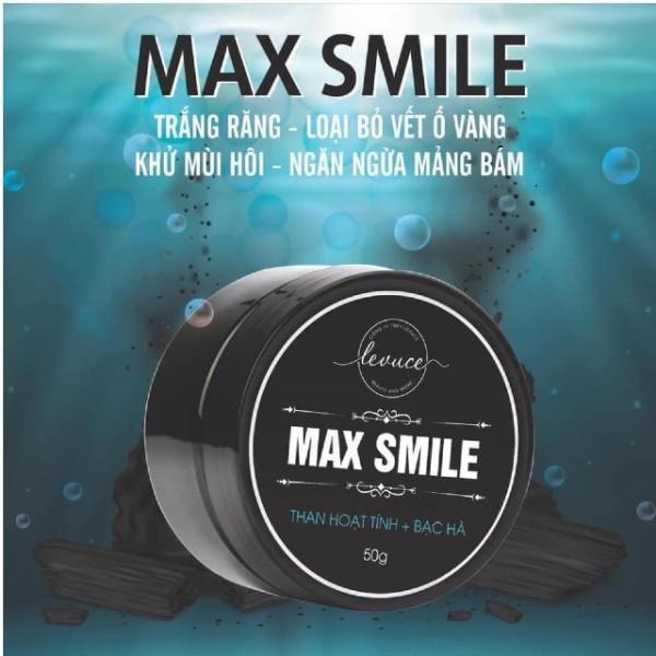 [HÀNG CHÍNH HÃNG] THAN HOẠT TÍNH TRẮNG RĂNG MAX SMILE Khử Mùi Hôi Miệng, Răng Trắng Sáng Tự Nhiên giá rẻ