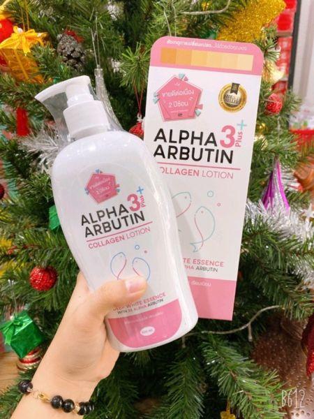 Chai Dưỡng Body Alpha Arbutin Thái Lan 500ml cao cấp