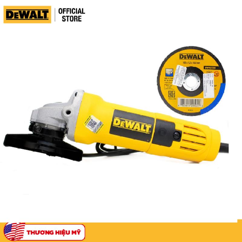 Combo Máy mài cầm tay DeWalt DW810B-B1 710W và Đá cắt inox DeWalt DWA8060-B1 100 x 1.2 x 16mm T1