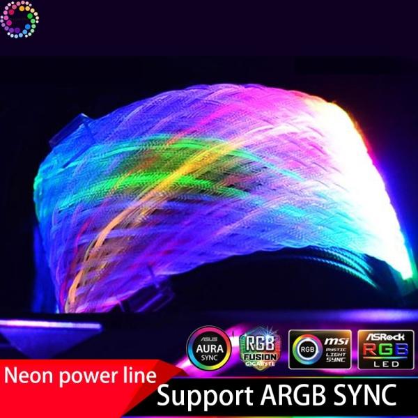 Bảng giá Dây nguồn nối dài 24pin Led RGB Sync Mainboard 5v 3pin, Sync Hub Coolmoon RGB Phong Vũ