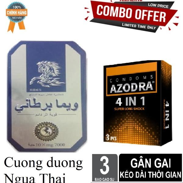 Bao Cao Su Malaysia Azodra 4in1 Mong Gan Gai Keo dai 3 cai va san phẩm tăng cường sinh lý NguaThai ngăn xuất tinh sớm hiệu quả cao cấp