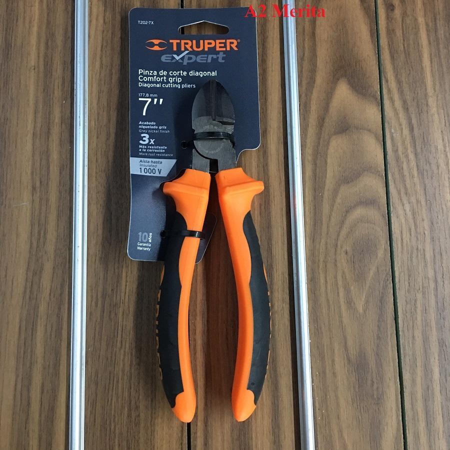 7 (180mm) Kìm cắt cao cấp cách điện 1000V Truper 12349 (T202-7X)