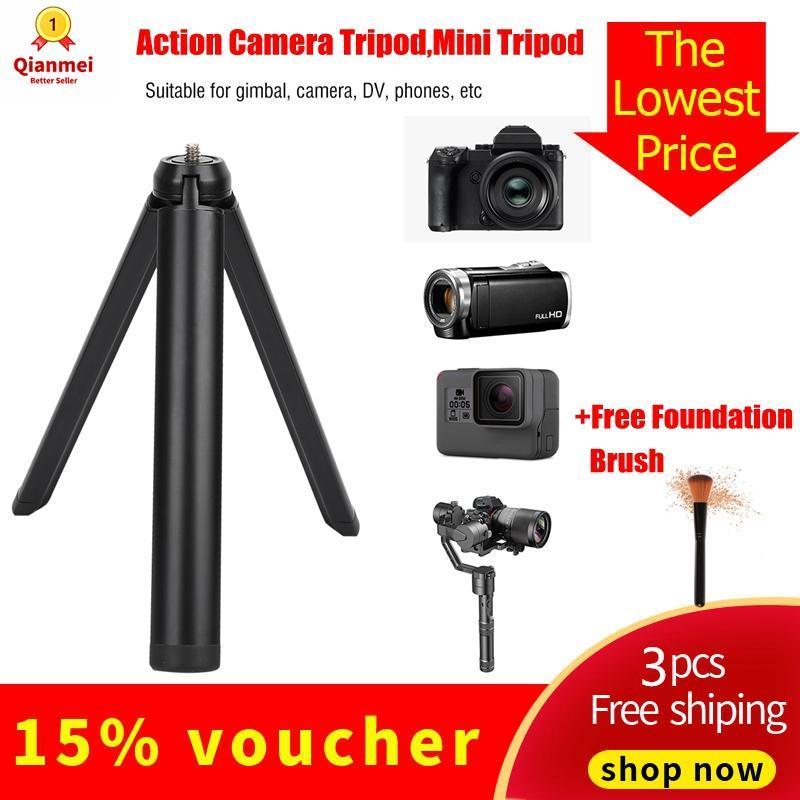 [Free Gift!!!!]Qianmei Mini Hợp Kim Nhôm Tải Trọng Nặng Gấp 1/4 Vít Chân Máy Phụ Kiện Camera Gimbal