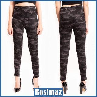 Quần Legging Nữ Bosimaz MS018 dài không túi màu đen rằn ri cao cấp, thun co giãn 4 chiều, vải đẹp dày, thoáng mát không xù lông. thumbnail