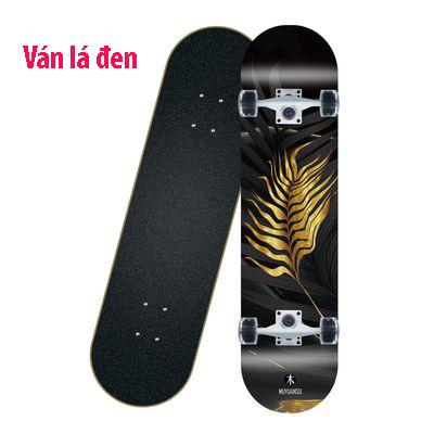 Ván trượt skateboard thể thao chất liệu gỗ phong ép cao cấp 8 lớp mặt nhám - 5