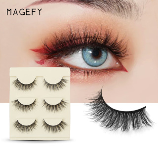 MAGEFY 3 Bộ lông mi giả 3D tự nhiên giúp lông mi trông dày và cong hơn - INTL thumbnail