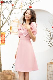 Đầm xòe váy ngắn tay phối viền ren DEW0869 92 WEAR thumbnail