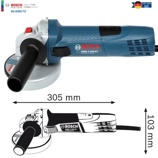Máy mài góc nhỏ, Máy mài điện cầm tay, Máy mài cầm tay, máy cắt sắt cầm tay Bosch GWS 7-100 T ( Công suất 720W, đá 100mm)