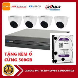 BẢO HÀNH 5 NĂM-Bộ kis camera KBVISION gồm 1 đầu ghi KX-7104SD6 và 4 camera KX-2112CB4 độ phân giải 2.0 MPX,GIÁ SỐC thumbnail