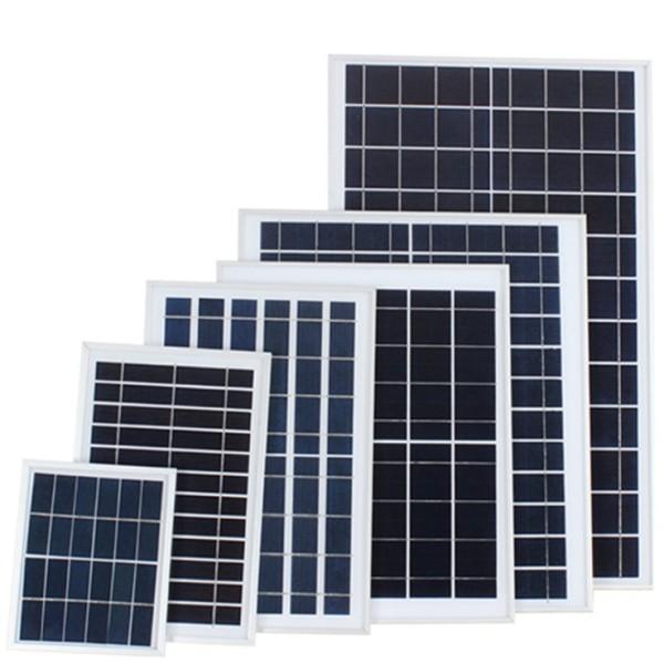 Tấm pin năng lượng mặt trời Solar Panel 6V 20W Poly - Solar panel 6V 20W Poly, sẵn dây nối 5m, đầu cắm tùy chọn, bảo hành 24 tháng, dùng cho đèn pha năng lượng mặt trời tấm pin rời.