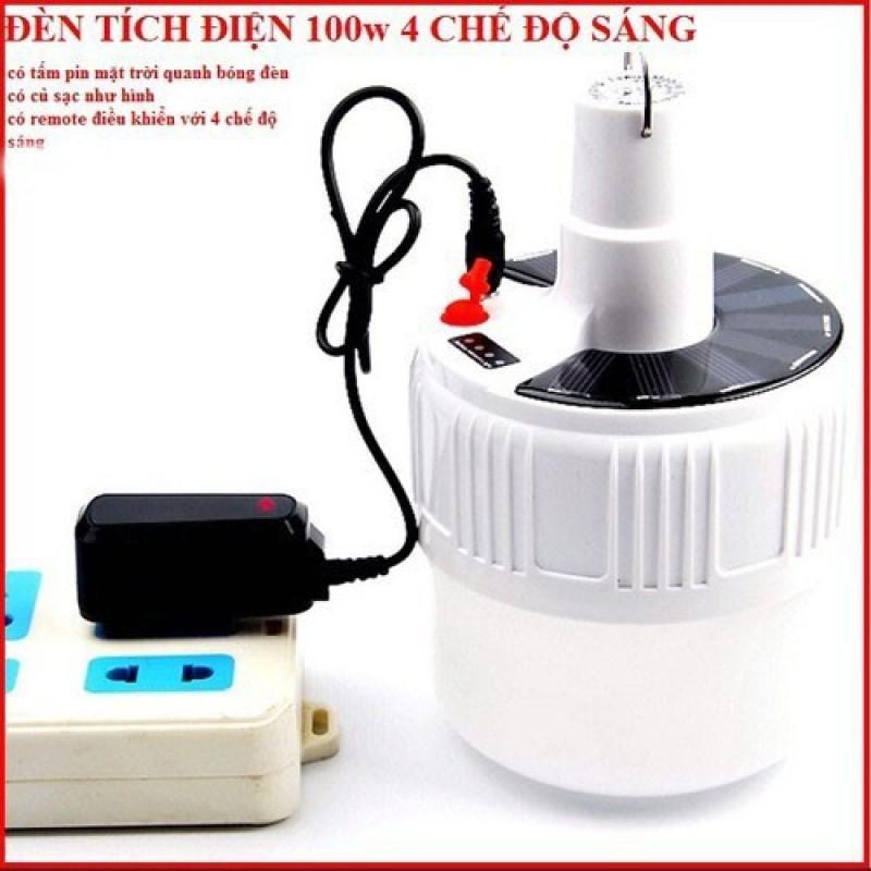 Bóng đèn tích điện LED 100w Sạc tích điện thông minh kèm điều khiển