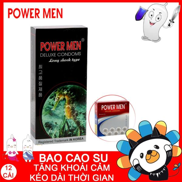 [Shop giao] Bao cao su Powermen Kéo dài + Tăng khoái cảm 15 bcs
