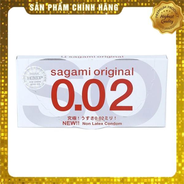 [FREESHIP] Bao Cao Su Siêu mỏng Cao Cấp SAGAMI ORIGINAL 0.02 - Nhật Bản - Chính hãng - Che tên sản phẩm