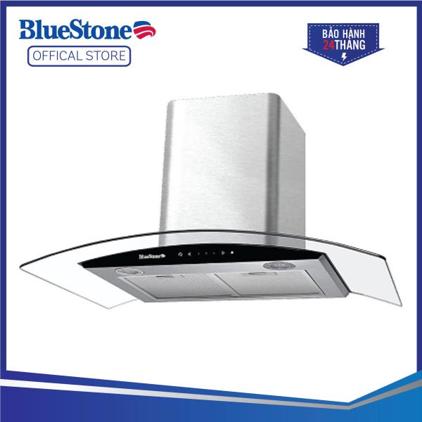 Máy hút mùi BlueStone HOB-8735 - Dòng máy hút mùi kính cong - Lưới lọc hợp kính nhôm 5 lớp - Than hoạt tính - Bảo hành 24 tháng - Hàng chính hãng