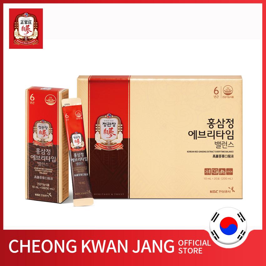 💥 ⚡ SẢN PHẨM CHÍNH HÃNG 💥 ⚡ Nước hồng sâm Hàn Quốc Everytime Balance KGC Cheong Kwan Jang 10ml x 20 gói- Bổ sung năng lượng, tăng đề kháng, chống oxy hoá, giảm thiểu mệt mỏi 💥 ⚡