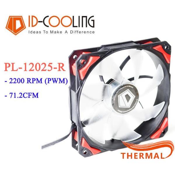 Bảng giá Quạt Fan Case 12cm ID-Cooling PL-12025 R [ThermalVN] - Led đẹp, Vòng quay 2200RPM, sức gió lớn Phong Vũ