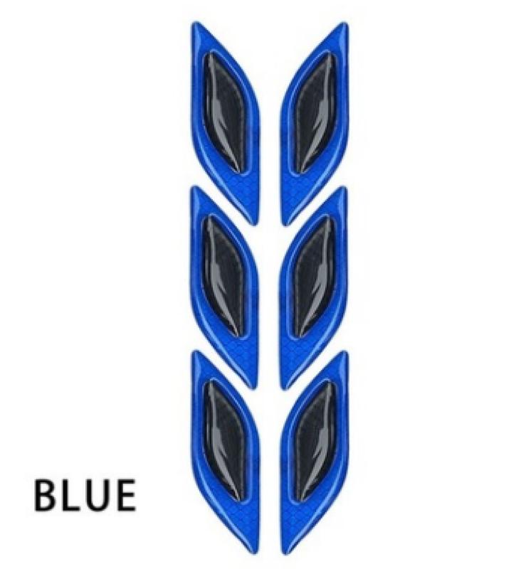 Bộ 02 Miếng dán cảnh báo sợi carbon phản quang Ô tô chống va chạm ô tô cực đẹp