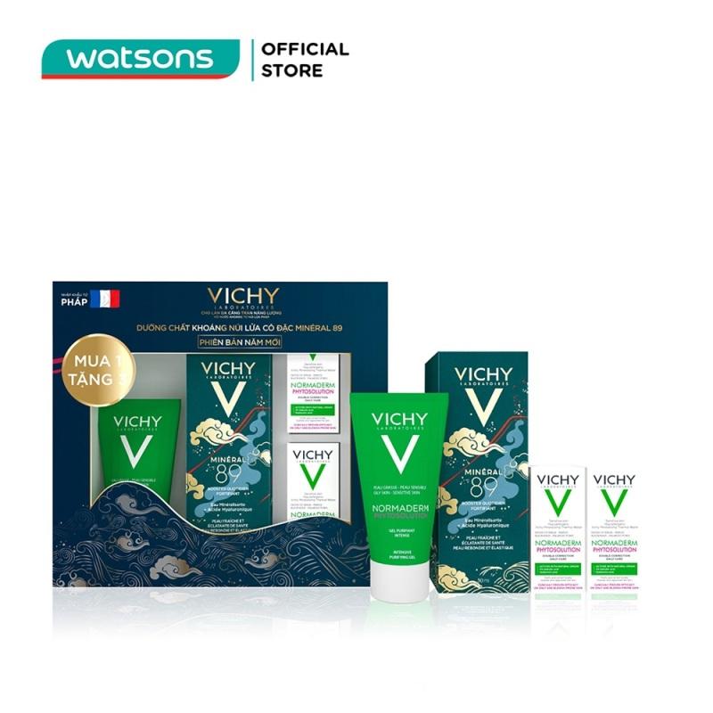 Combo Vichy Festive (Khoáng Cô Đặc Mineral 89 50ml + Normaderm Gel 50ml + Normaderm Kem 3mlx2) giá rẻ