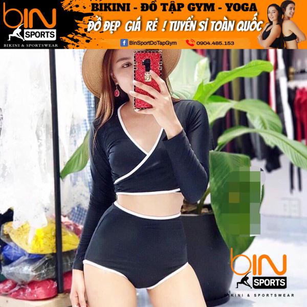 Nơi bán Bộ Bơi Nữ Hai Mảnh Dài Tay Freesize Bin Sports BHV014