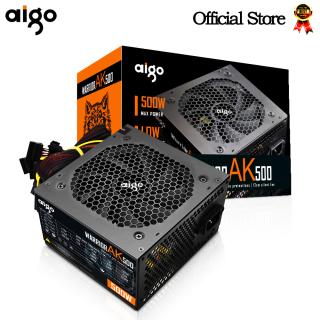 Aigo AK 500W PC PSU Power Supply unit 80plus Black Gaming Quiet 120mm rgb Fan 24pin 12V ATX Desktop computer Power Supply BTC thumbnail