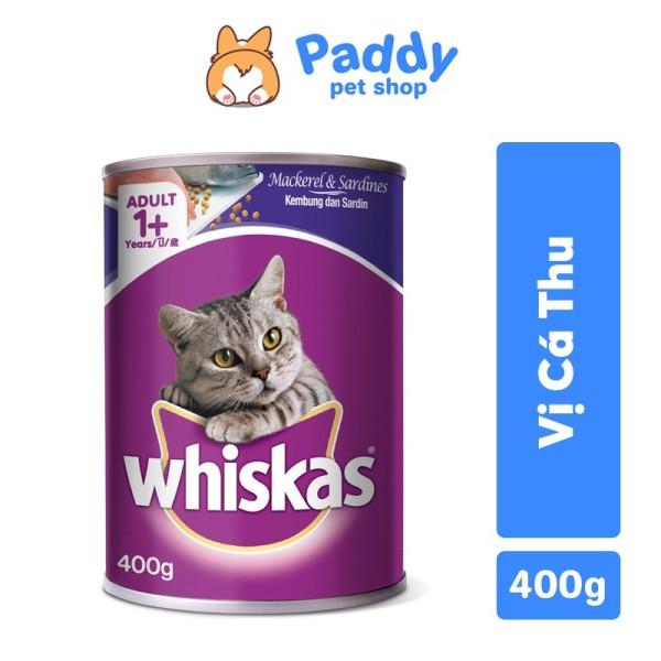 [400g] Pate Whiskas mèo vị cá thu lon