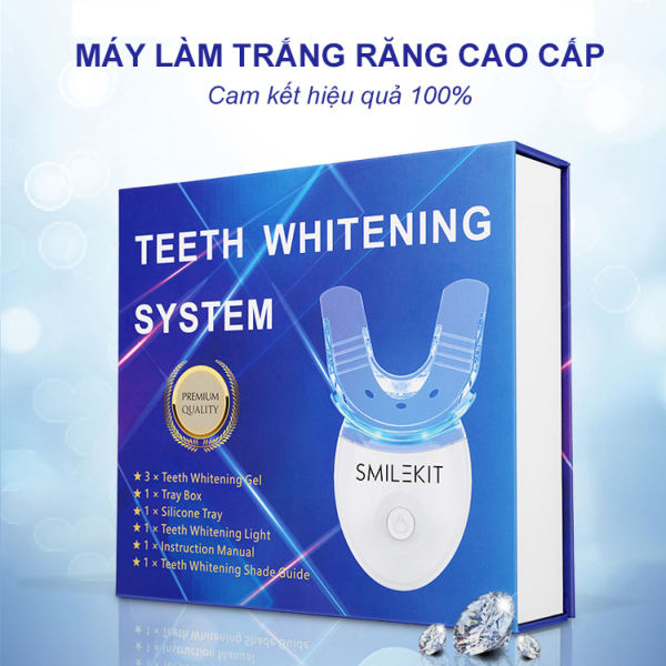 [Bộ Kit] Máy Làm trắng răng tại nhà loại bỏ ố vàng mảng bám trên răng công nghệ mới -Mẫu máy làm trắng răng hiệu quả Smile Kit, răng trắng sáng tự nhiên - Cam kết chất lượng 100%