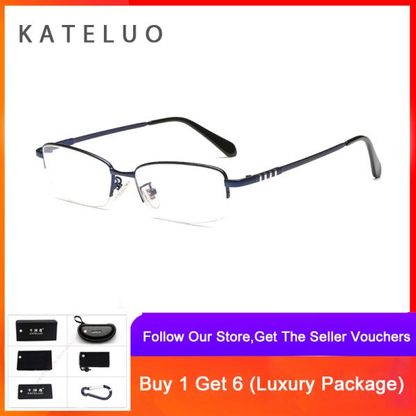 Giá bán KATELUO 2020 Mens Computer Glasses Anti Blue Light Fatigue Radiation-resistant Reading Glasses Frame Optical Eyeglasses 8801
