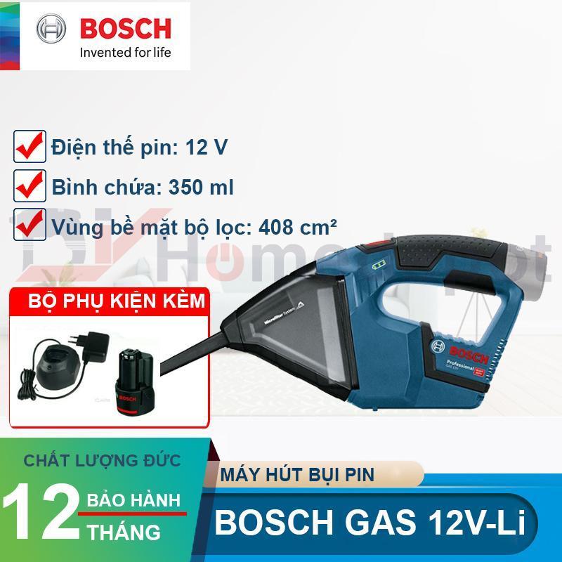 Máy hút bụi dùng pin Bosch GAS 12V-LI (Xanh) Set Pin + Sạc