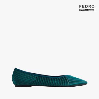 PEDRO - Giày đế bệt mũi nhọn Satin Velvet Pointed Toe PW1-66220016-12 thumbnail