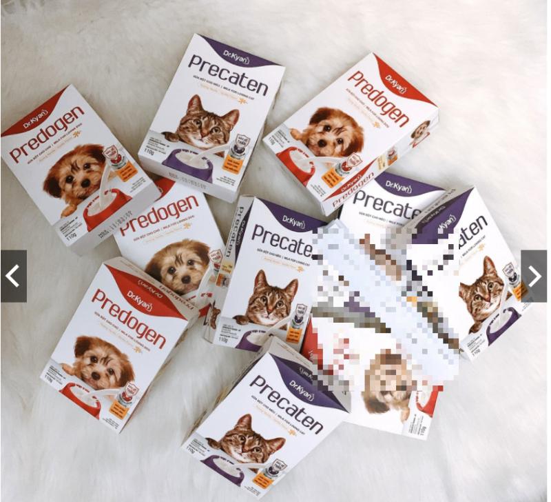 Sữa bột Dr.kyan cho chó mèo bầu, chó mèo con bổ sung khoáng vitamin canxi dinh dưỡng - hộp giấy 110gr