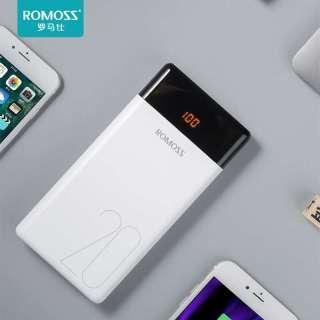 Pin sạc dự phòng ROMOS LT20 20.000mAh 3 cổng input micro - Lightning - Type C - Hãng phân phối chính thức thumbnail