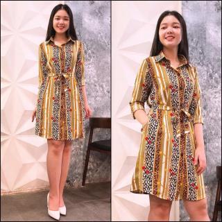[HCM]Đầm Suông Cổ Sơ Mi Họa Tiết Lạ Misa Fashion Hàng Tốt Vải Đẹp Giá Rẻ - MS377 thumbnail