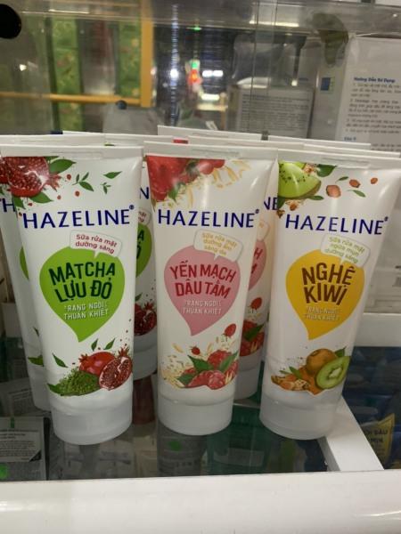Sữa Rửa Mặt Hazeline Kiwi Nghệ, MatCha ,Lựu Đỏ 50g