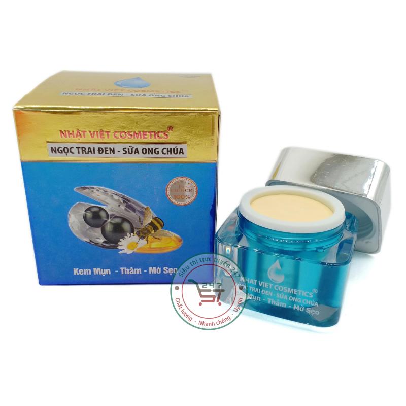 Kem Mụn Nhật Việt Thâm Mờ sẹo Ngọc Trai Đen - Sữa Ong Chúa V13 20g (Xanh - Vàng) Siêu thị trực tuyến 247