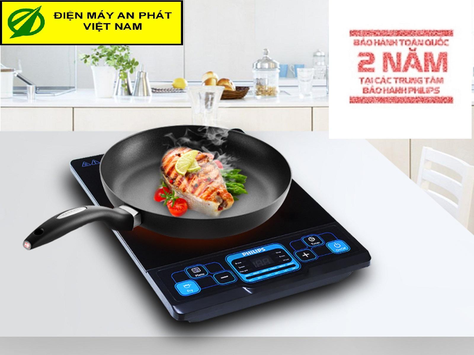 Bếp từ Philips HD4921 - Hàng Công ty( Tặng kèm nồi lẩu to inox chất lượng cao) Bảo hành 2 năm trên toàn quốc (Xuất hóa đơn GTGT theo yêu cầu)