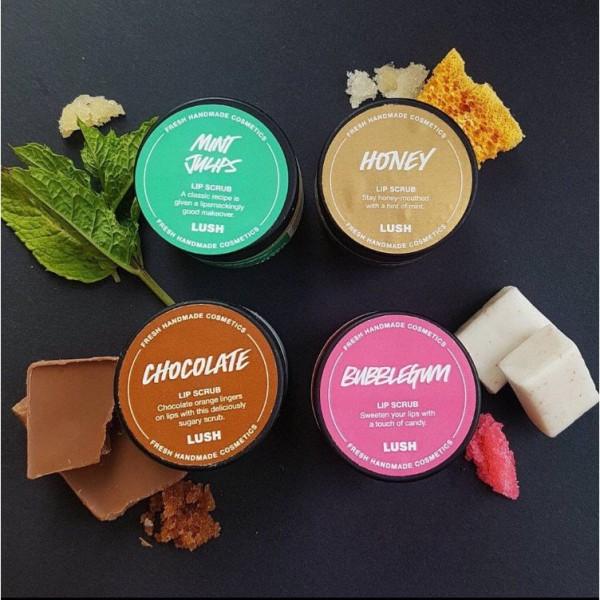 Tẩy da chết môi LUSH - Bubblegum, Honey, Mint Julips, Cookie Dough,... lipscrub lip scrub giá rẻ