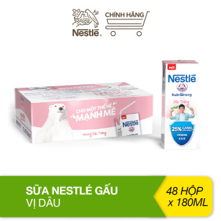 Thùng 48 hộp sữa Nestlé Gấu hương dâu trắng (48x180ml) thumbnail