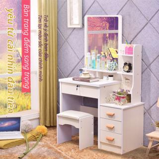 Bàn trang điểm sang trọng nhẹ bàn trang điểm đơn giản kèm tủ để đồ tủ lưu trữ tủ đầu giường thumbnail
