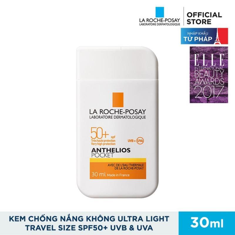 Kem chống nắng dành cho da nhạy cảm và dễ kích ứng với ánh nắng SPF 50+ UVB + UVA La Roche-Posay Anthelios Pocket 30ML